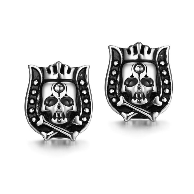 The King's Guards Stainless Steel Earrings