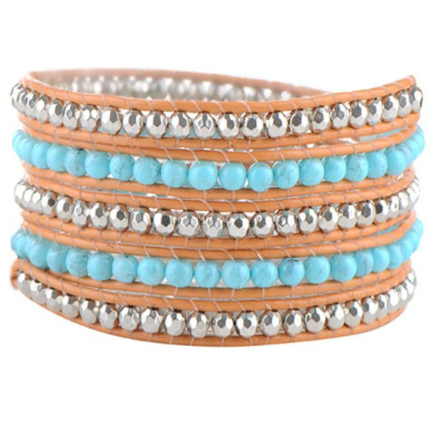 Turquoise Hex Wrap Bracelet