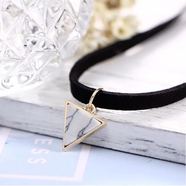 Triangle Choker Necklace - Howlite