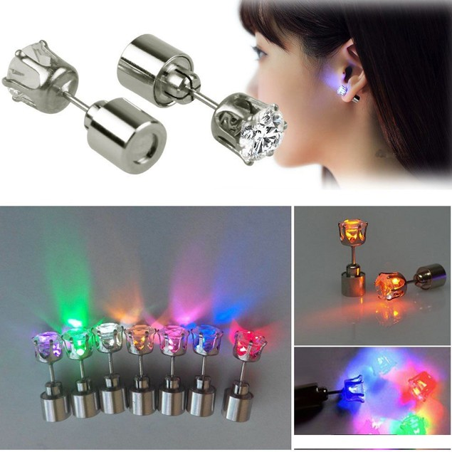 Light Up LED Stud Earrings - Assorted Colors