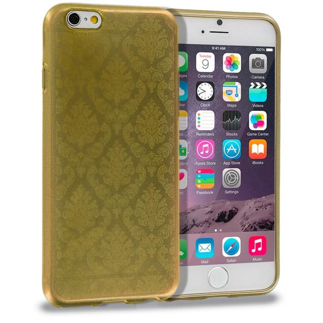 Apple iPhone 6 Plus (5.5) TPU Damask Design Rubber Case Cover