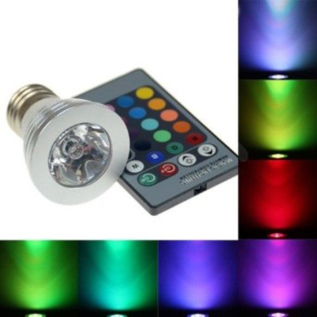 2-Pack Multi-Color LED Light Bulbs with Remote