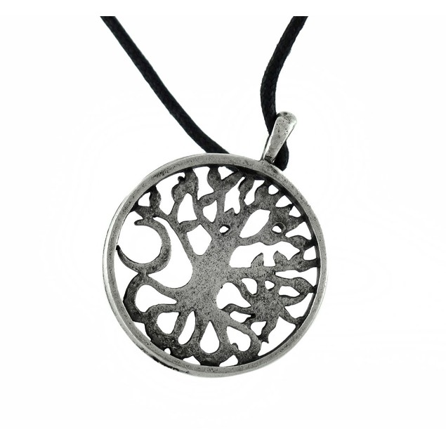 Tree Of Life Celtic Pewter Pendant On Slider Cord Mens Pendant Necklaces