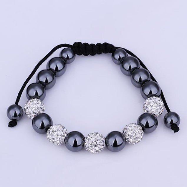 80's Glam Bracelet Beads and Ivory Crystal