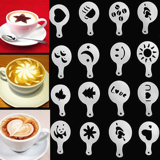 Coffee Barista Stencil 16 pc Set