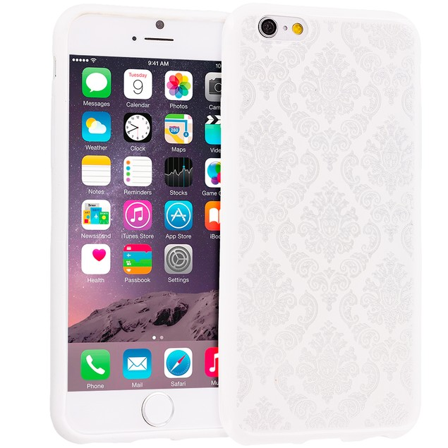 Apple iPhone 6 (4.7) TPU Damask Design Rubber Case Cover