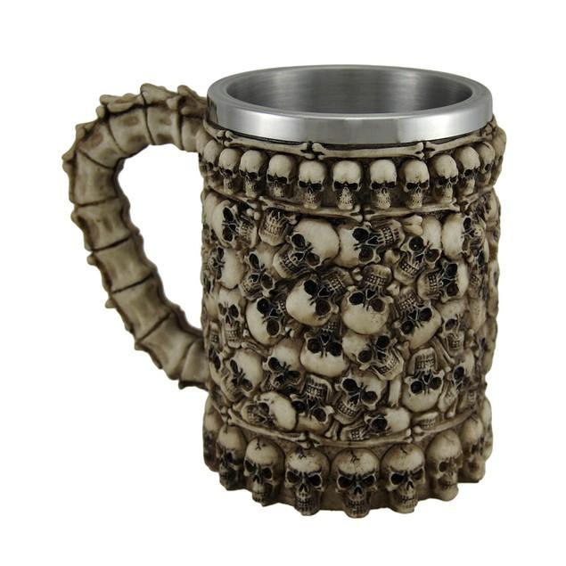 Dearly Departed Skulls & Bones Spine Handle Mug Mugs