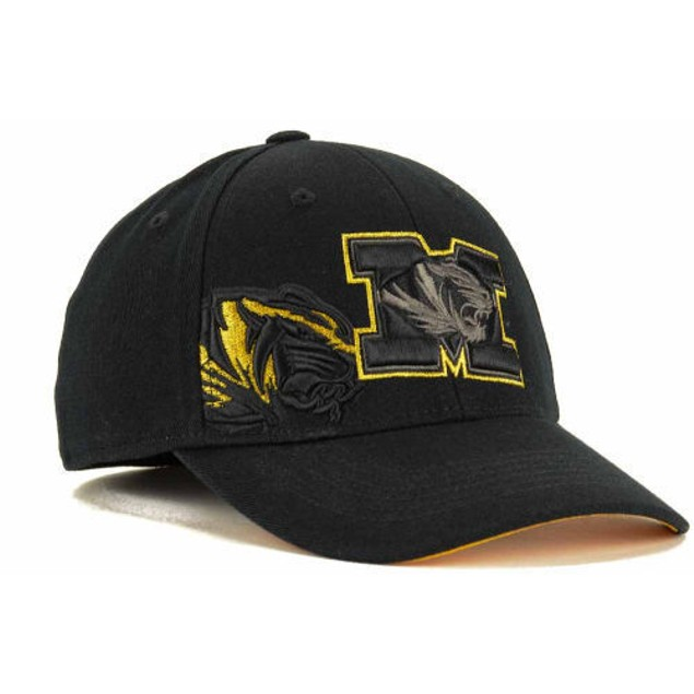 """Missouri Tigers NCAA TOW """"Burnout"""" Stretch Fitted Hat"""