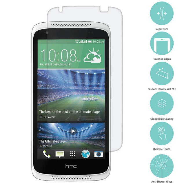 HTC Desire 526 Tempered Glass Film Screen Protector Clear