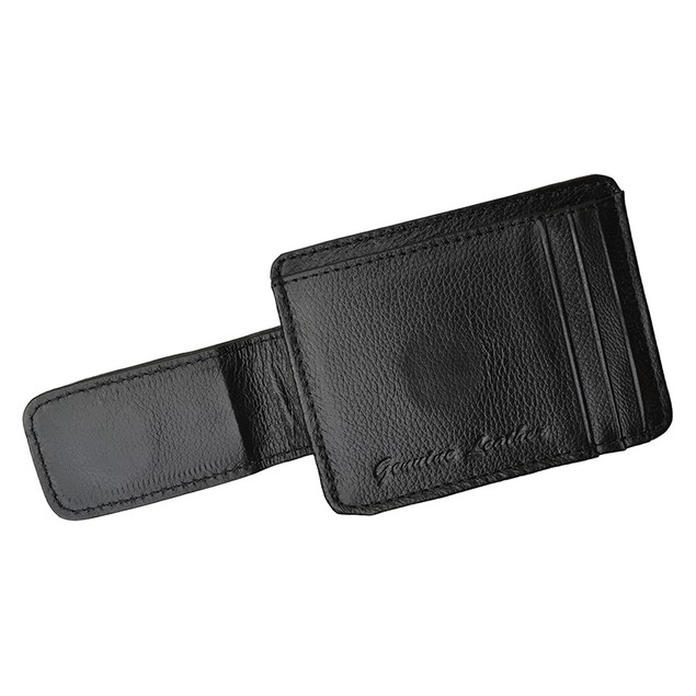Genuine Leather Magnetic Money Clip Wallet