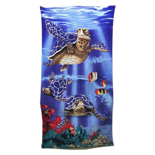 Swimming Sea Turtles Reactive Beach Towel 60 Beach Towels