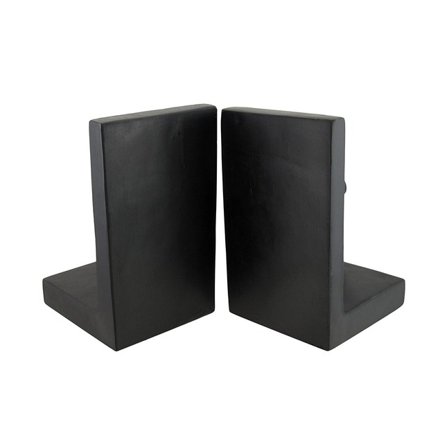 Running Man Satin Finish Black Bookends Set Of 2 Decorative Bookends