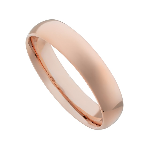 Mirrored Polished Stainless Steel Plain Wedding Band