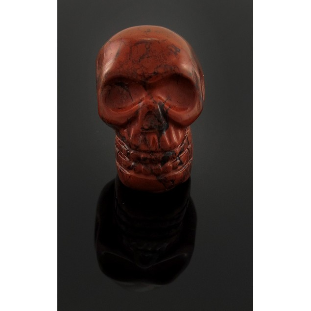 Brecciated Jasper Carved Gemstone Skull Pendant Loose Gemstones