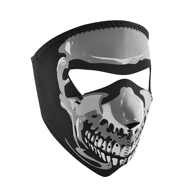 Neoprene Full Mask - Small Glow in the Dark Skull