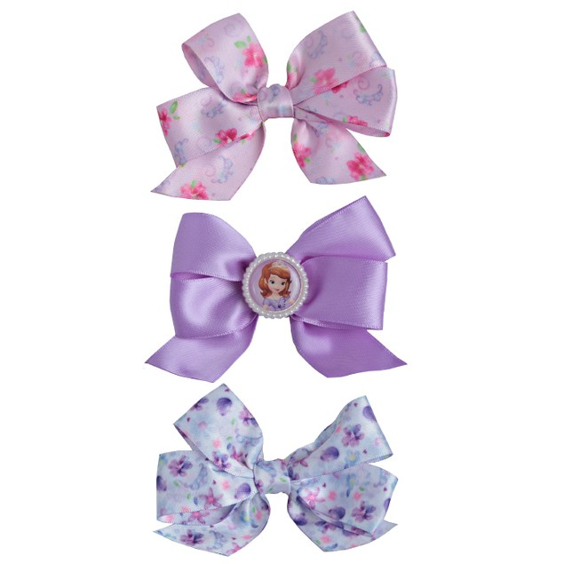 3 Printed Sofia the First Disney Princess Bow Salon
