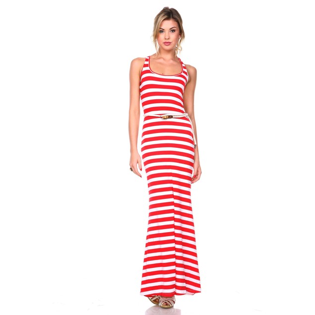 Women's Striped Maxi Dress