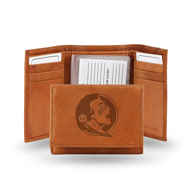 Florida State Leather Manmade Trifold
