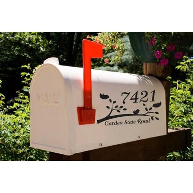 Flocking Together Birds Mailbox Decal