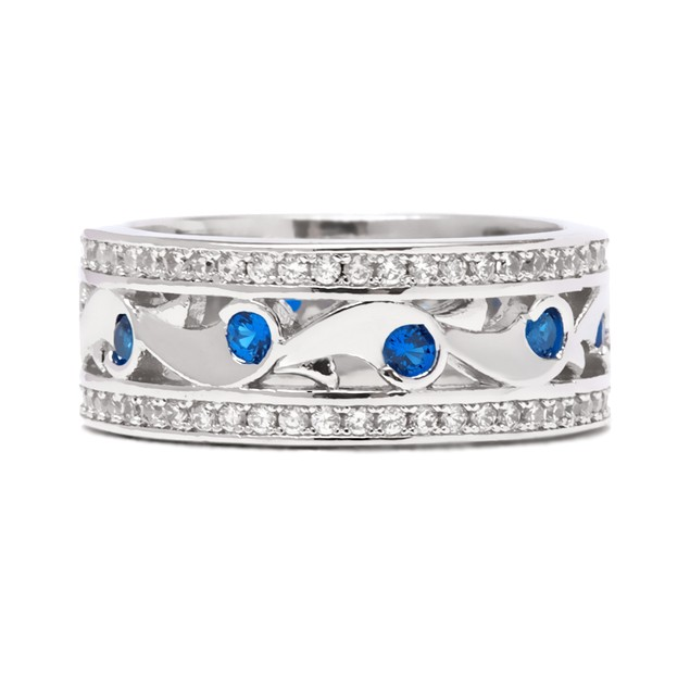 Gold Plated Sapphire Eternity Band