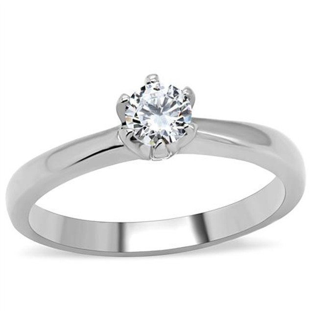 .60ct Round Cut Diamond Cz Engagment, Promise Ring Stainless Steel