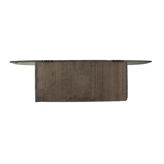 Blue Topped White Wood Wall Hook Shelf Decorative Wall Hooks