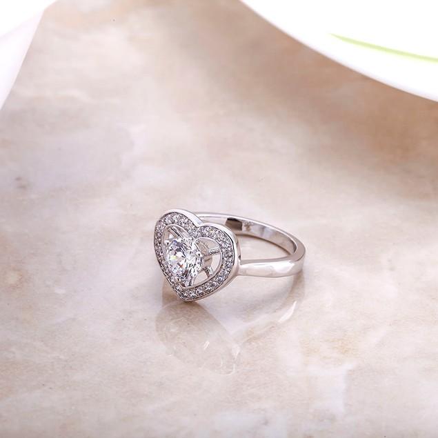 AAA Cubic Zirconia Heart Ladies Ring