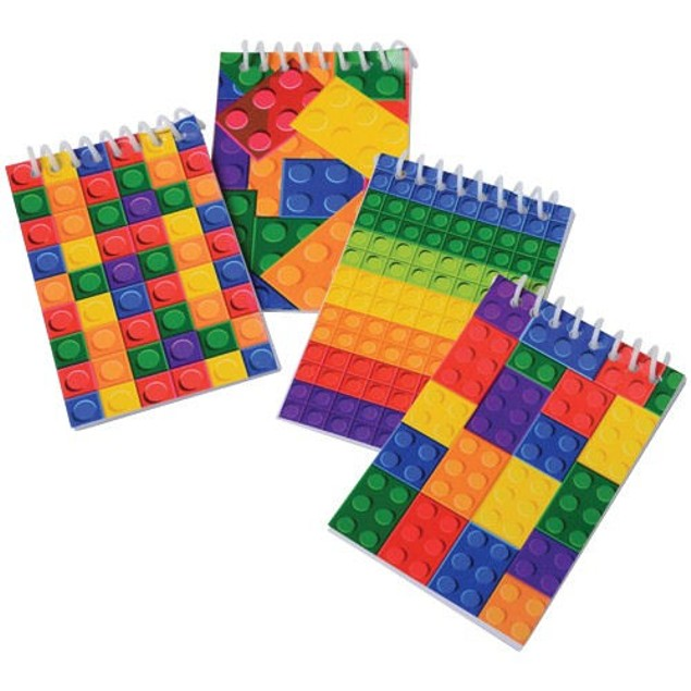 12-Pack Block Mania Mini Notebooks