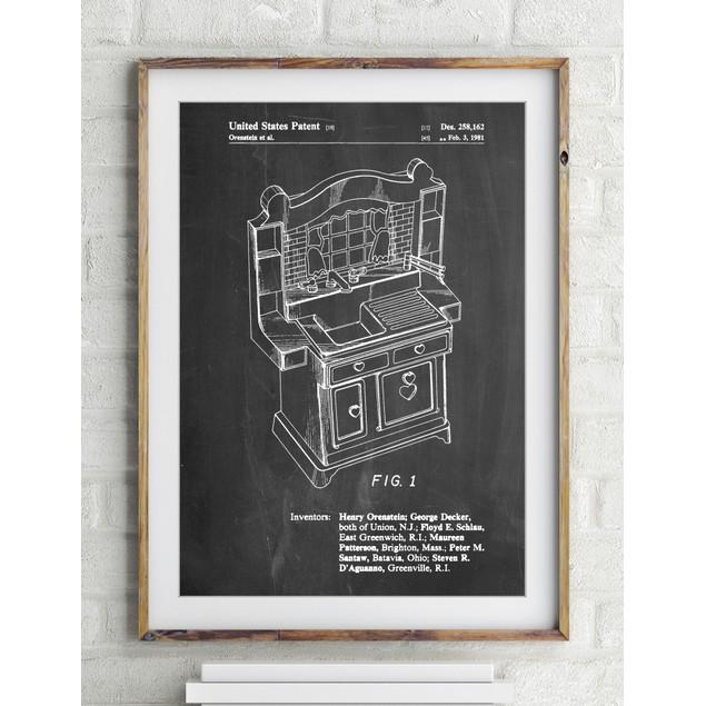 Kids Kitchen Patent Poster