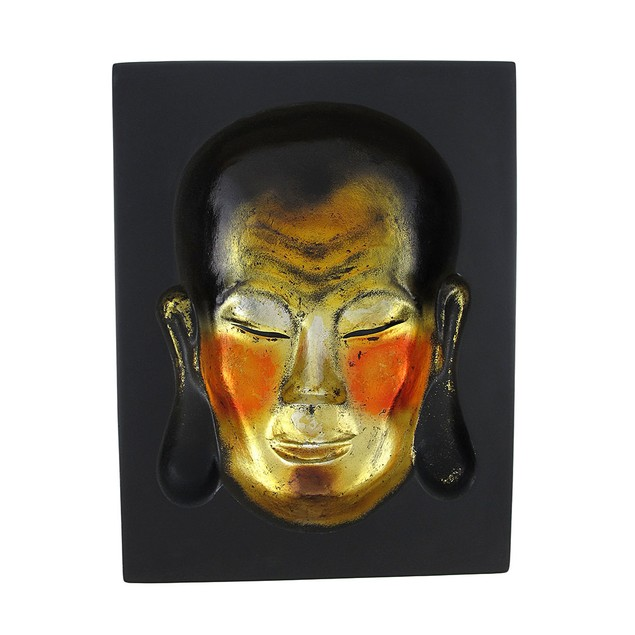 Meditating Buddha Metallic Gold / Black Illusion Wall Sculptures