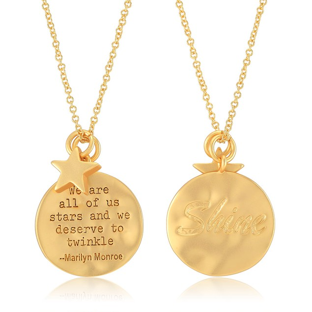Gold Plated Round Inspirational Necklaces - 3 Styles
