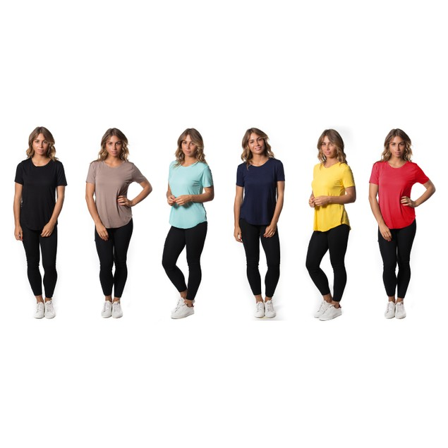 5-Pack Women's Mystery Lightweight Stretch Tees Mystery Deal