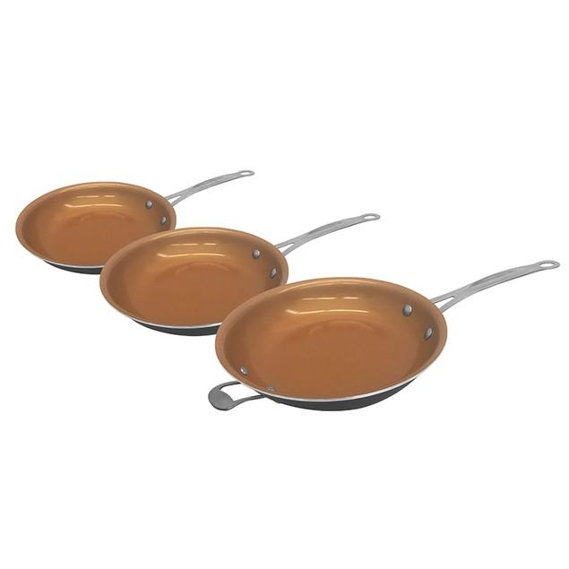 Gotham Steel 6 Piece Non-Stick Titanium Frying Pan with Lids