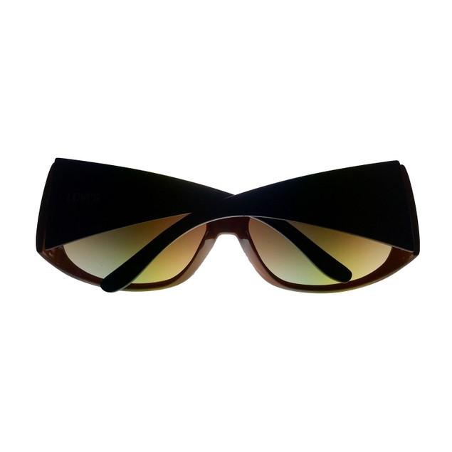 Levi Sunglass LS124 2 Mens Brown Rectangle Plastic, Brown Gradient Lens