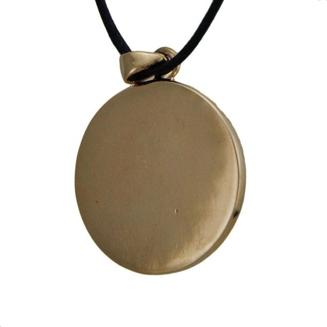 Helm Of Awe Bronze Finish Pewter Pendant On Cord Mens Pendant Necklaces