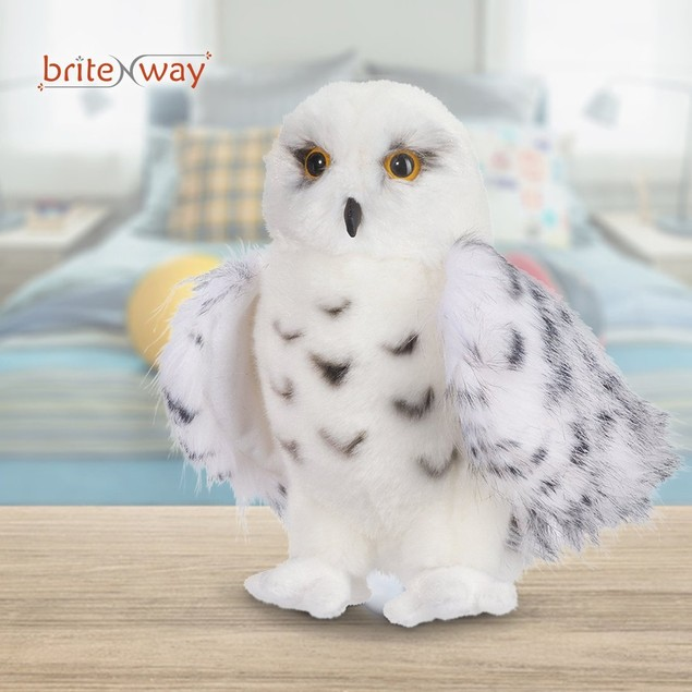 Premium Quality Snowy White Plush Hedwig Owl Toy – Large 12-Inch tall