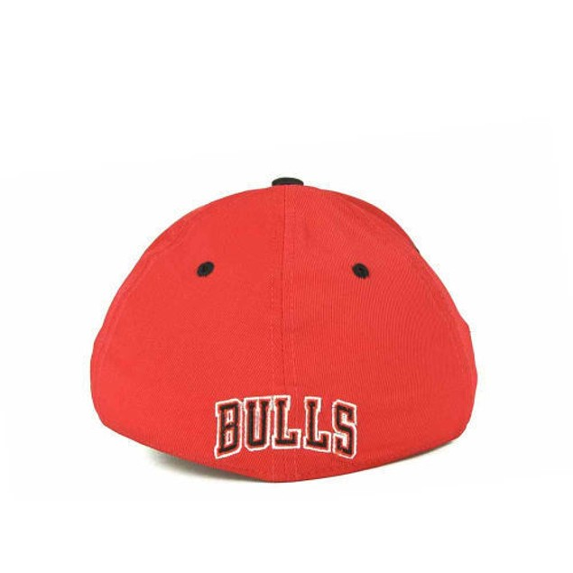 """Chicago Bulls NBA Adidas """"Courtside"""" Stretch Fitted Hat New"""