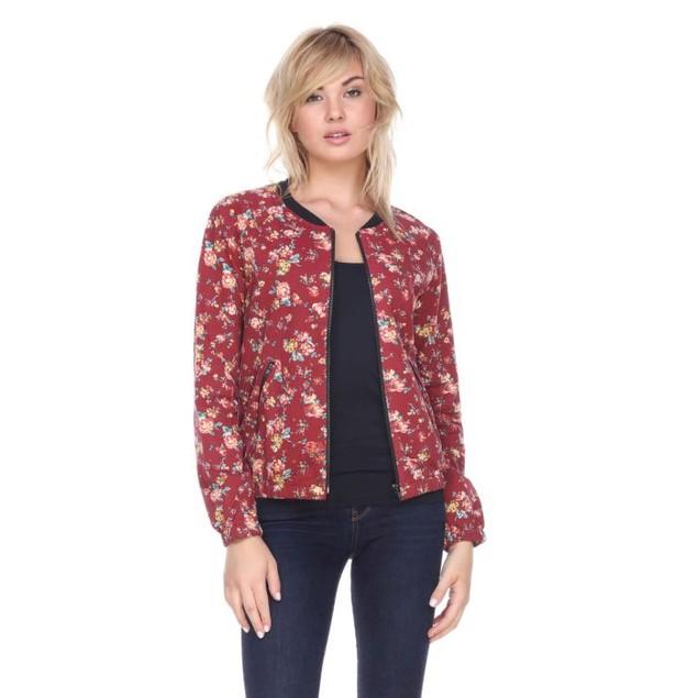 Women's Floral Zip Up Jacket