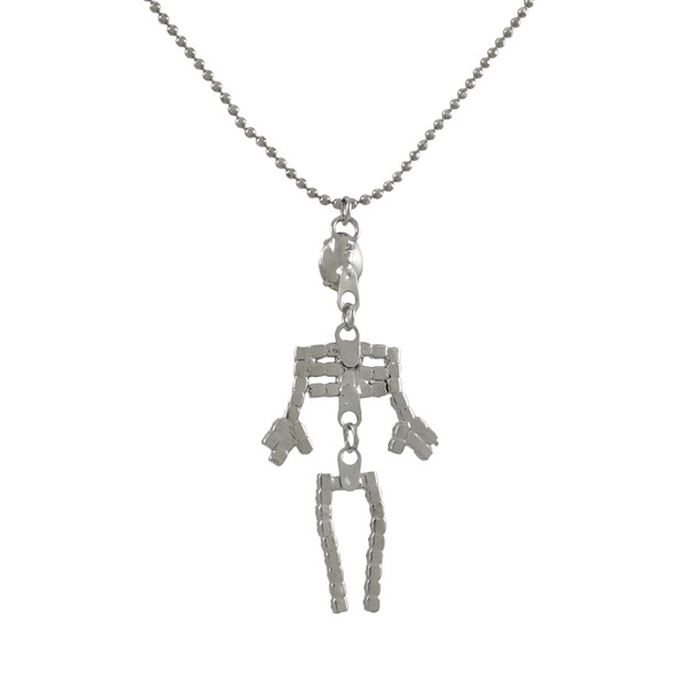 Rhinestone Dangling Skeleton Necklace Chain Necklaces