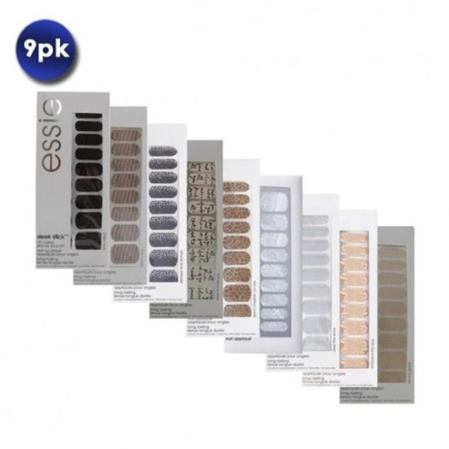 9 Piece Set: Essie Sleek Stick Nail Appliques-Stickers
