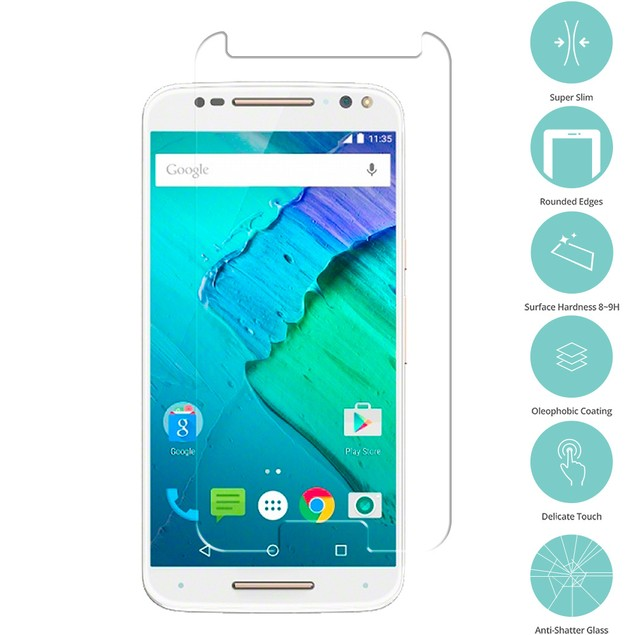 Motorola Moto X Style Tempered Glass Film Screen Protector Clear