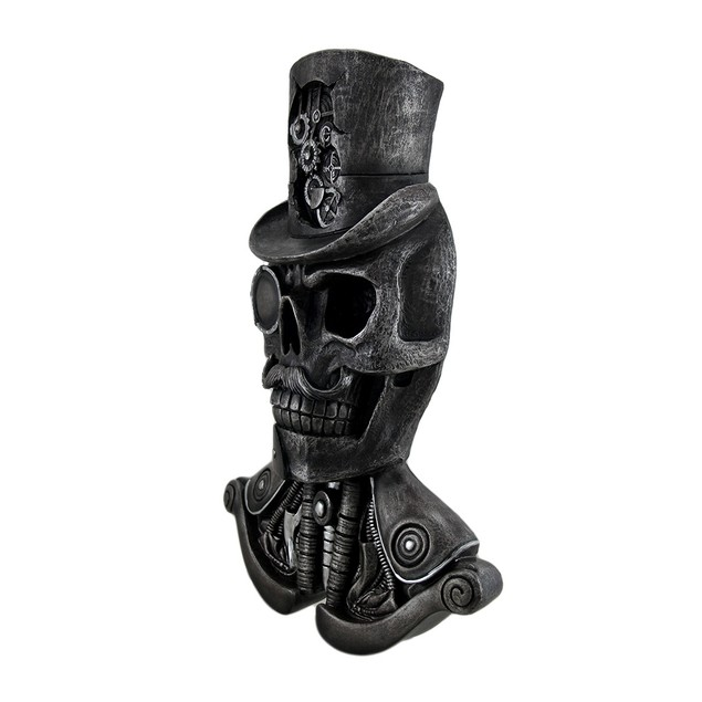 Machinations Skeletal Steampunk Gentleman Wall Statues