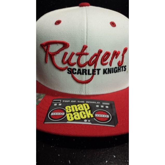 """Rutgers Scarlet Knights NCAA TOW """"Sports Script"""" Flat Bill Snapback Hat New"""