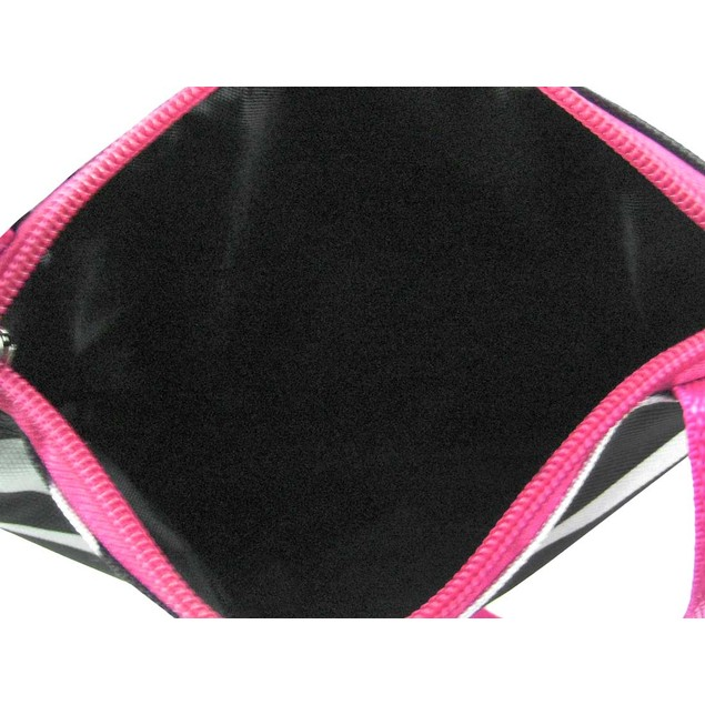 Zebra Print Adjustable Nylon Shoulder Bag Hot Pink Womens Shoulder Handbags