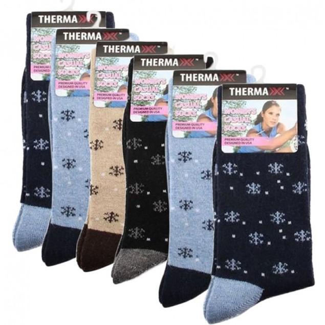 6-Pack Women's Thermaxx Winter Wool Socks
