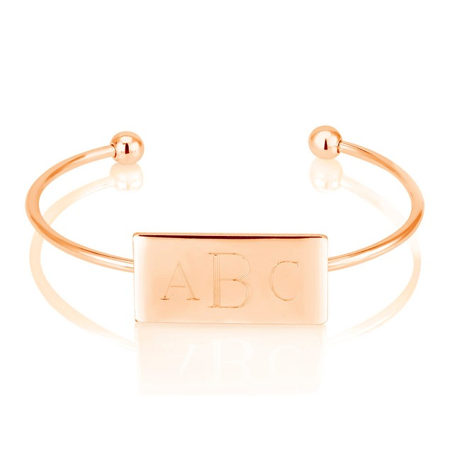 Personalized Rectangle Bangle with Free Gift!