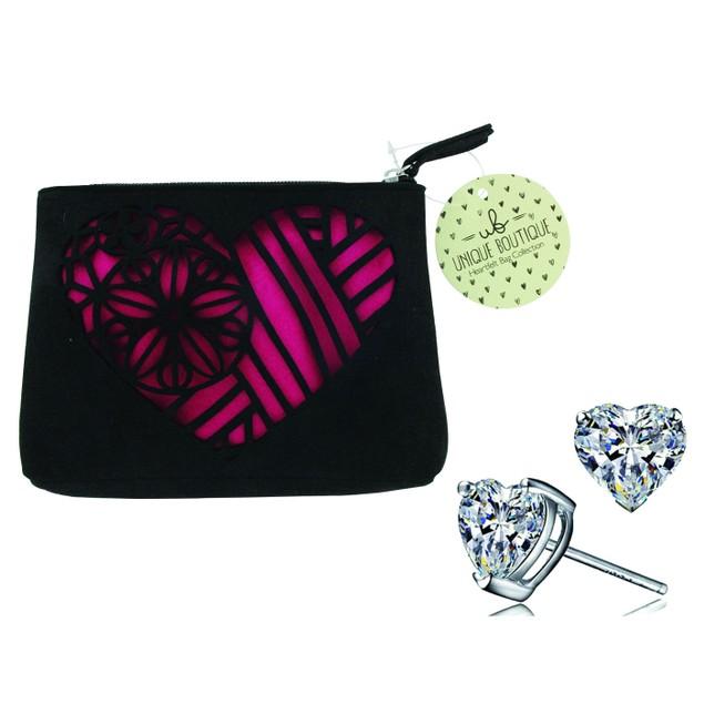 Unique Boutique Heartfelt Cosmetic Bag - 3 Colors