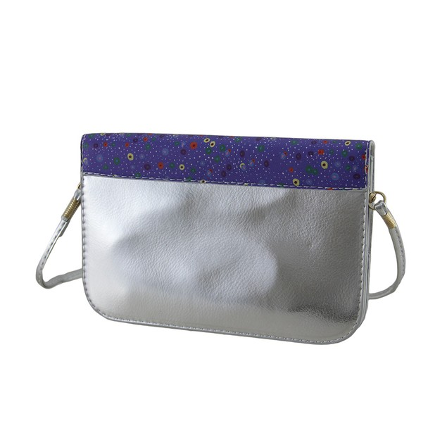 Colorful Retro Owl Purple And Silver Handbag Womens Coin Purses