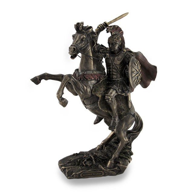 Alexander The Great Riding Bucephalus Bronzed Statues