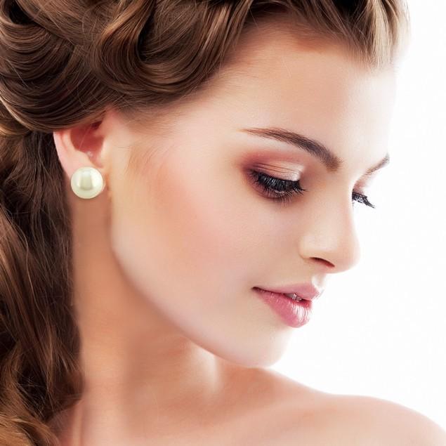 12mm Shell Pearl Stud Earrings